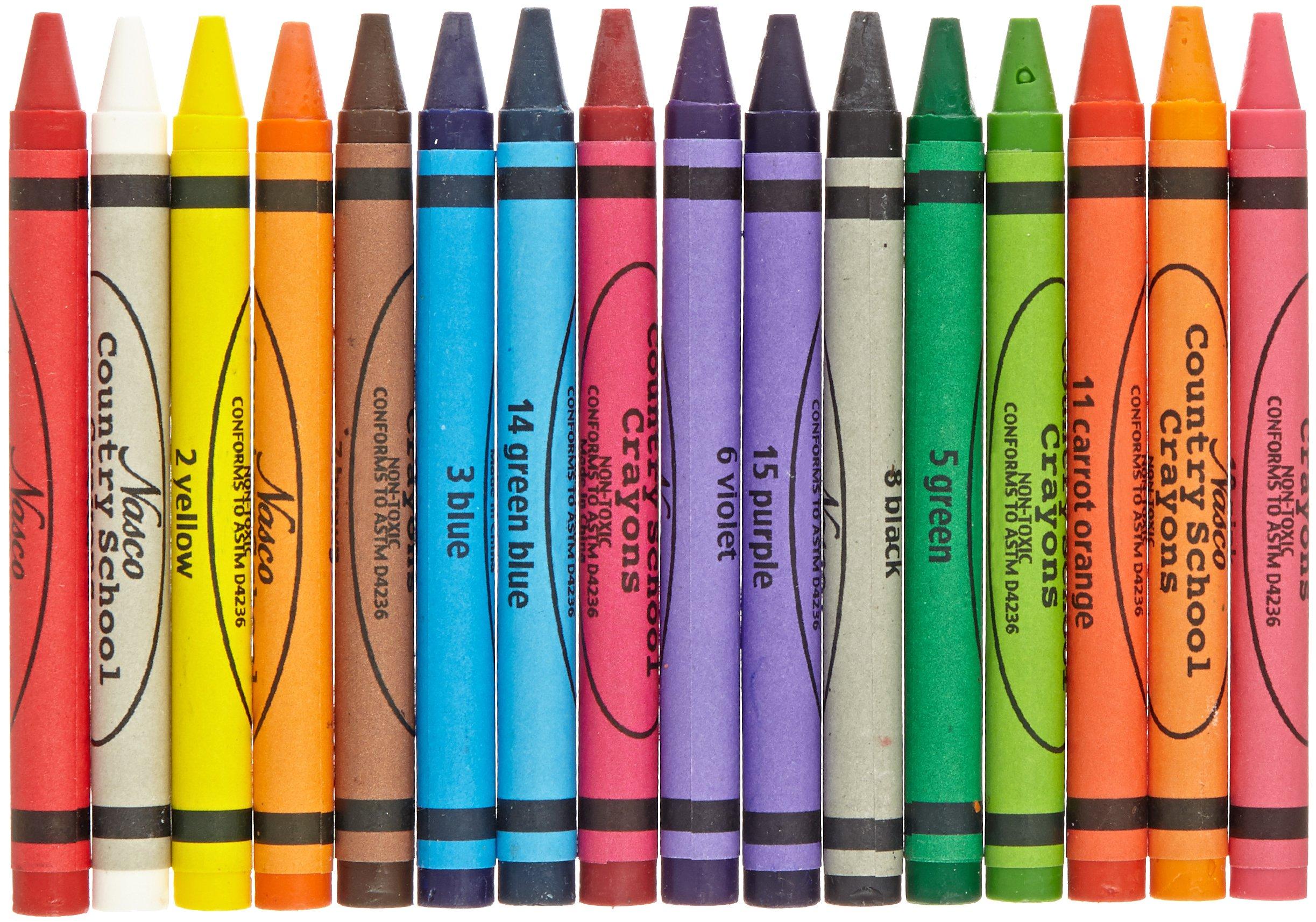 Nasco Country School 16-Color Crayon Classroom Set (50 Sets of 16 Crayons)