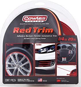 Cowles S37525 Red Custom Color Trim for Cars, Trucks and SUVs