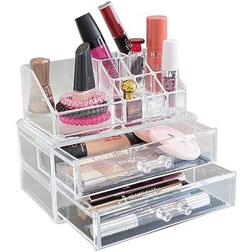 Badezimmer Make-up Kosmetik Organizer Acryl 20Fächer mit Schubladen Kosmetikorganiser