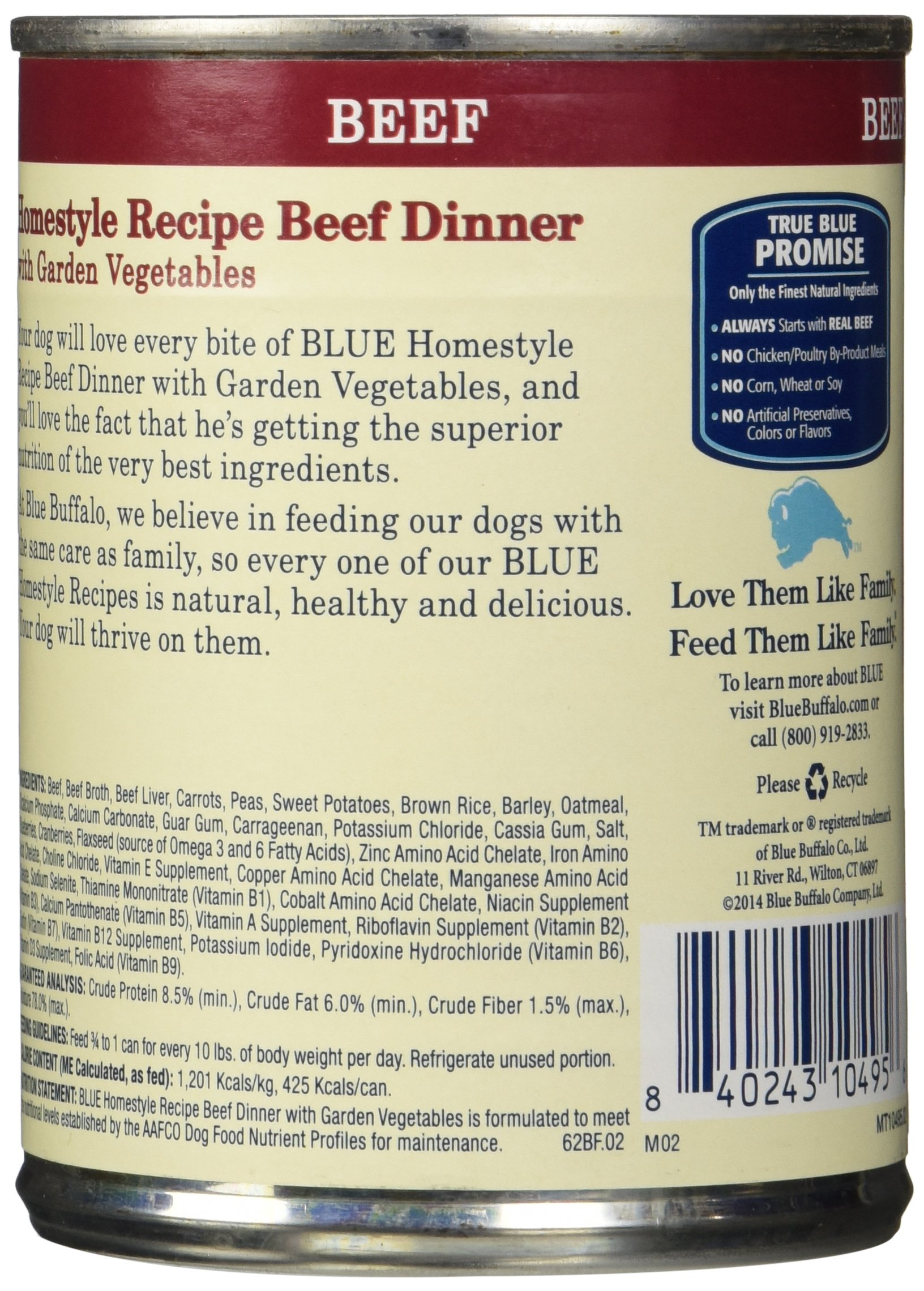 Blue Buffalo Homestyle Recipe Natural Adult Wet Dog Food 4