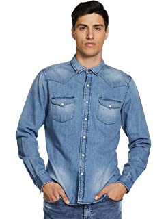 deb5cf32cc Amazon Brand - Inkast Denim Co. Men s Solid Slim Fit Casual Shirt ...