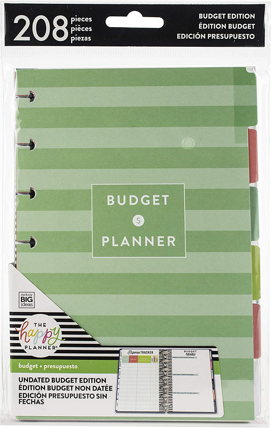 me & my BIG ideas Budget Extension Pack - The Happy Planner Scrapbooking Supplies - 6 Month Expense Tracker - Bill Pay Checklists & Budget Worksheets - Stickers & Dividers for Budgeting - Mini Size