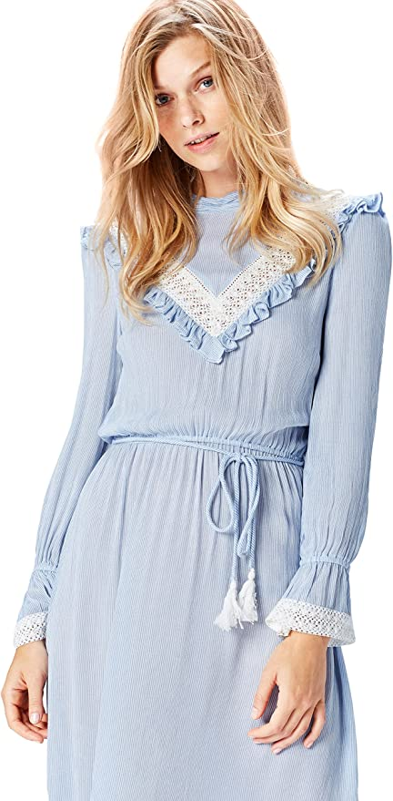 Old Fashioned Dresses | Old Dress Styles Amazon Brand - find. Womens Lace Detail Retro Dress Long Sleeve Dress £30.00 AT vintagedancer.com