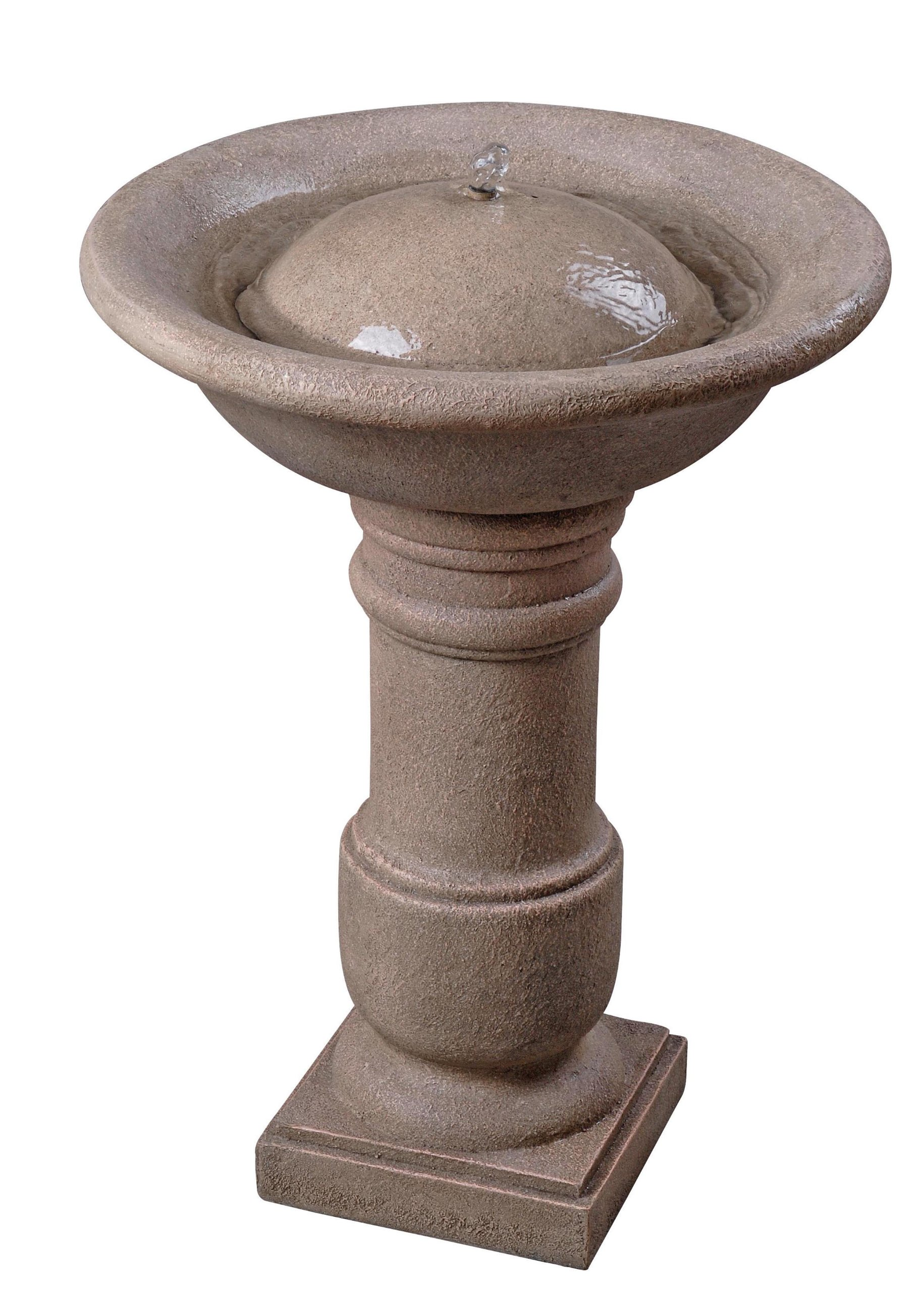 Kenroy Home 50019COQN Apollo Birdbath Fountain, Coquina Finish