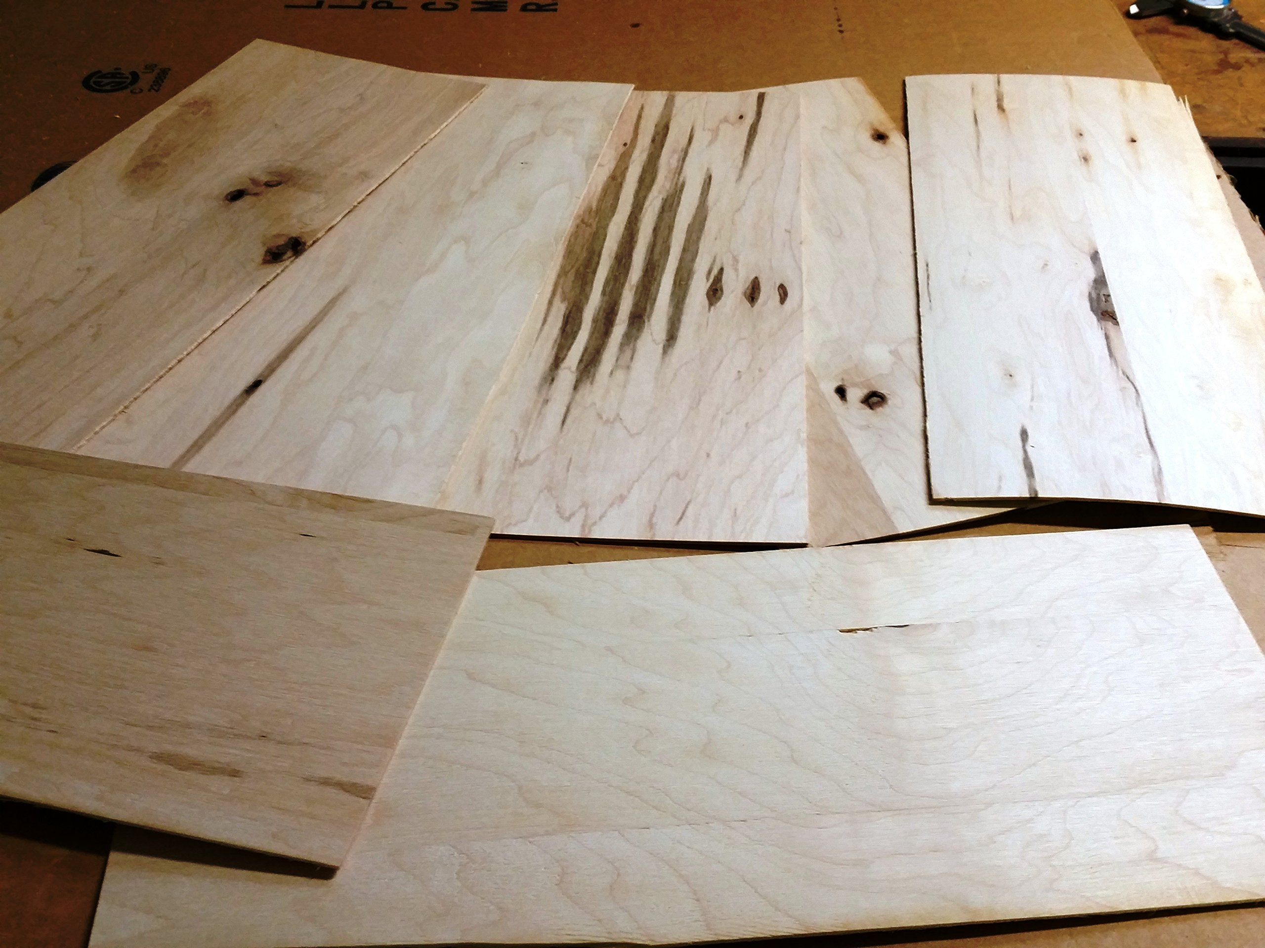 10 Pack of 1/16'' Thick Rustic Maple Boards. Thin Wood Great for Scroll Sawing or Laser Work