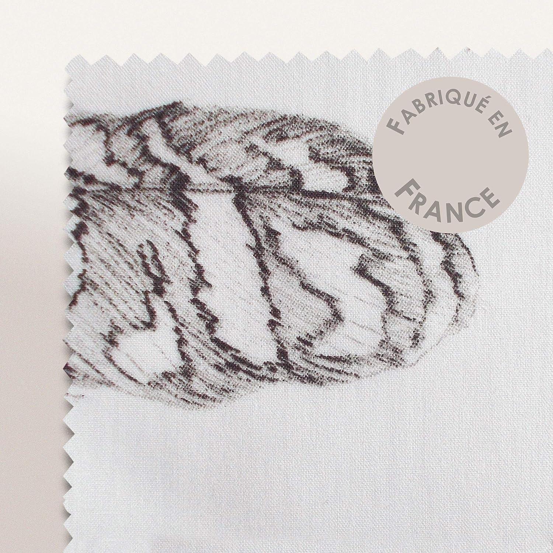 Linnea Drap Plat 280x325 cm Percale Pur Coton Plumes