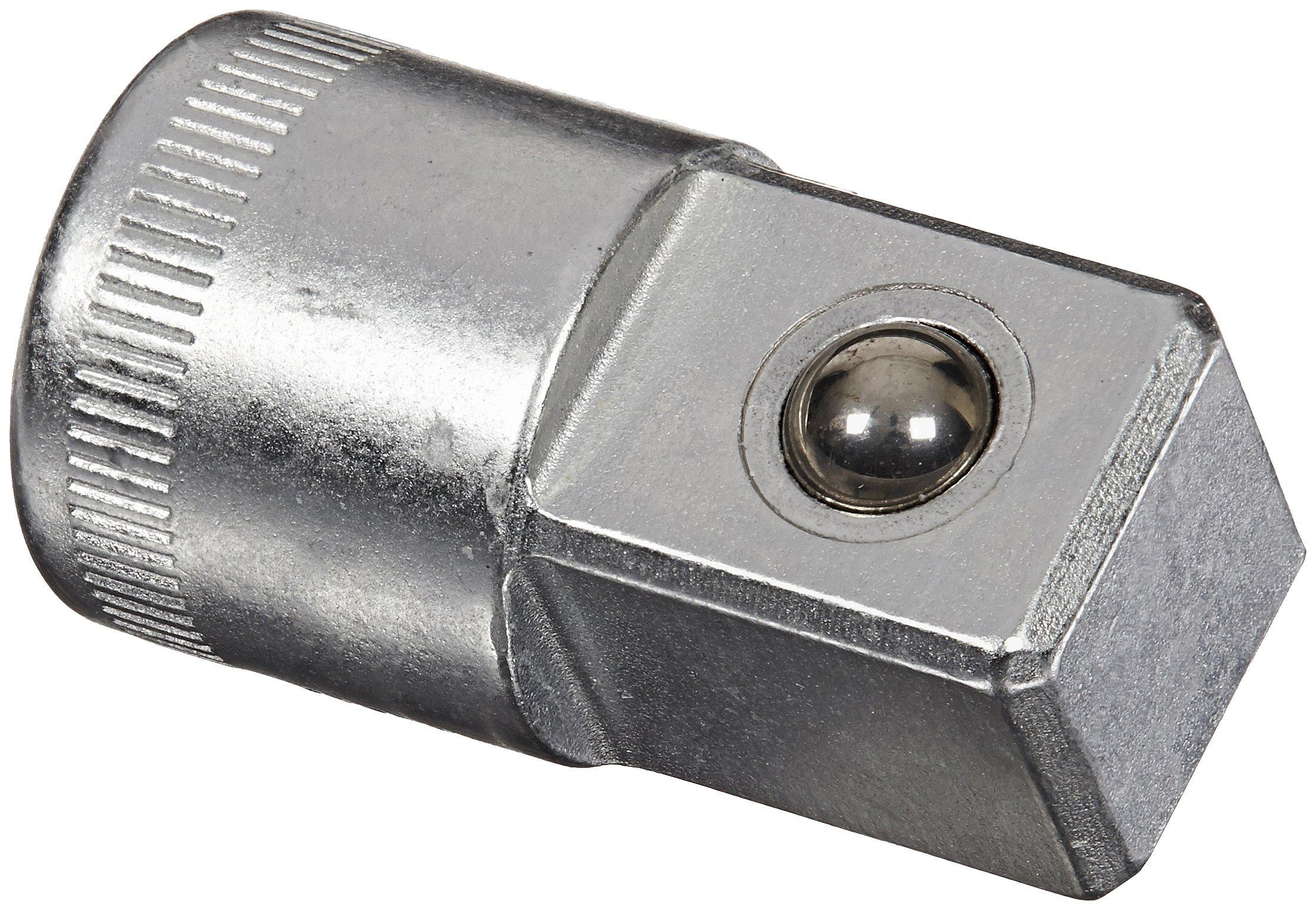 Stahlwille 432 Steel Adaptor, 3/8'' Socket x 1/2'' Plug, 17.2mm Diameter, 31mm Length