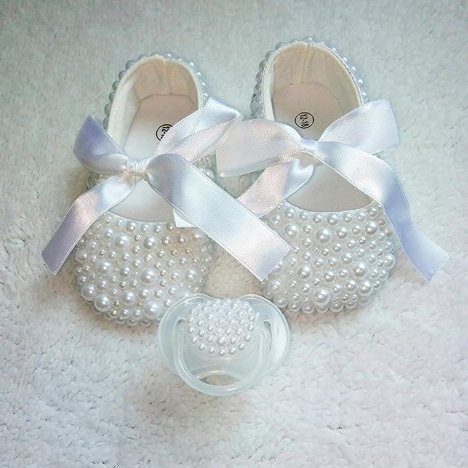 Amazon.com: dollbling bautizo hecho a mano color blanco ...