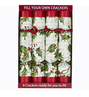 8 kraft scandinavian nordic christmas make your own crackers kit 8 x 12 robin reed fill your own christmas crackers bows and berries solutioingenieria Images