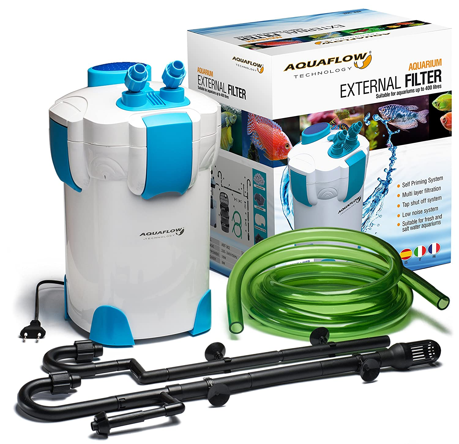 Aquaflow Technology® Super AEF-302 Filtro externo del tanque de ...