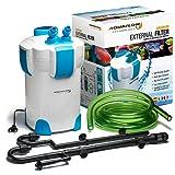 Aquaflow Technology® SuperAEF-302 -3 Stufen Außenfilter für Aquarien bis zu 75 (Gallonen) 400 Liter (für Süß- oder Salzwasser). Freie Filtermedien sind im Preis inbegriffen