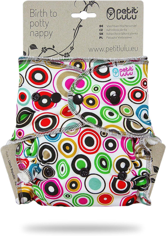 Fermeture /à Pressions Circles Couche Lavable Classique Petit Lulu MAXI NUIT Fabriqu/é en Europe R/éutilisable /& Lavable