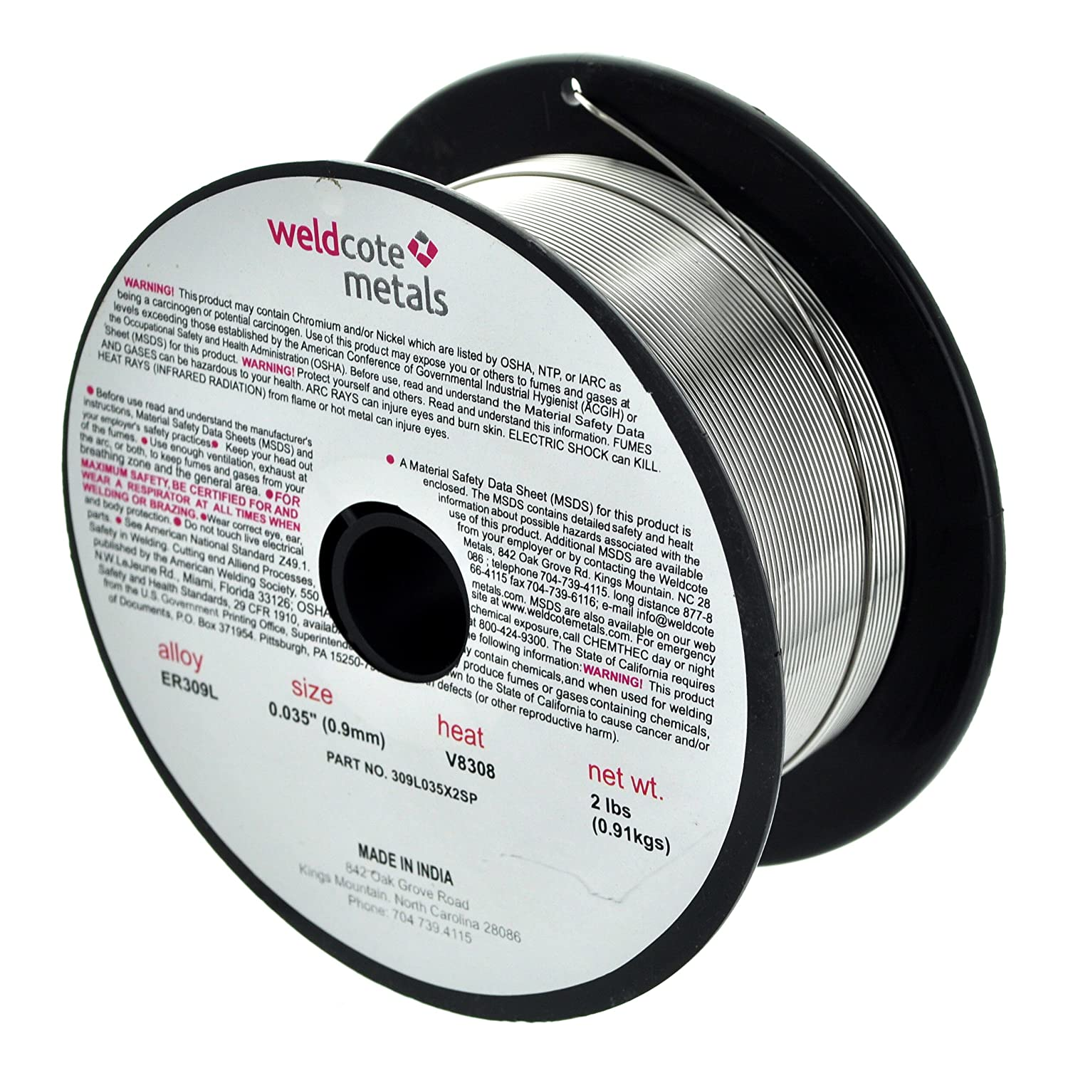 Weldcote 309L .035 X 2# Spool Stainless Steel Wire 2 lbs - - Amazon.com