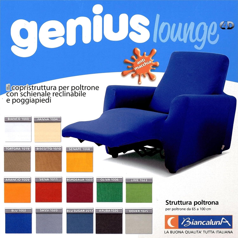 BIANCALUNA Copripoltrona per Poltrone Reclinabili Relax Genius Lounge Copridivano 1 Posto (Panna)