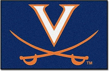 NCAA University of Virginia Cavaliers Starter Mat Rectangular Area Rug