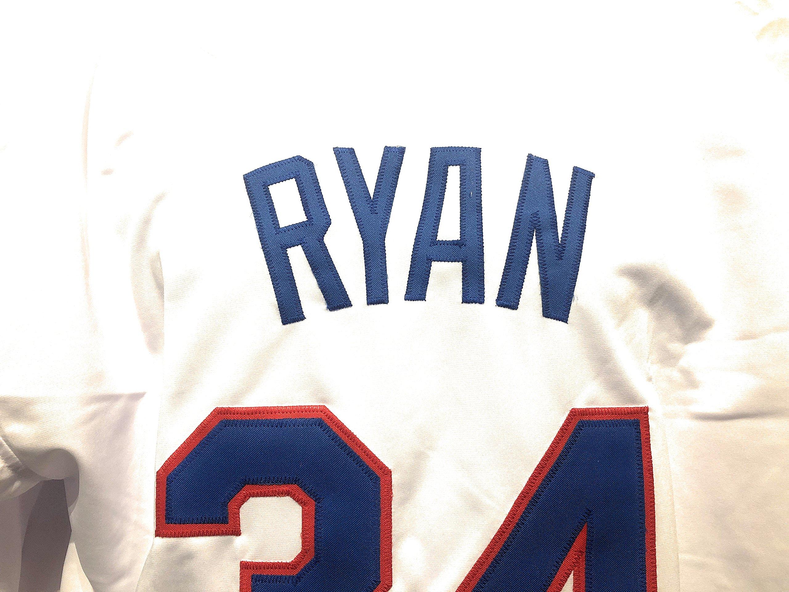 Nolan Ryan Texans Rangers Signed Autograph White Custom Jersey Nolan Ryan Hologram Certified