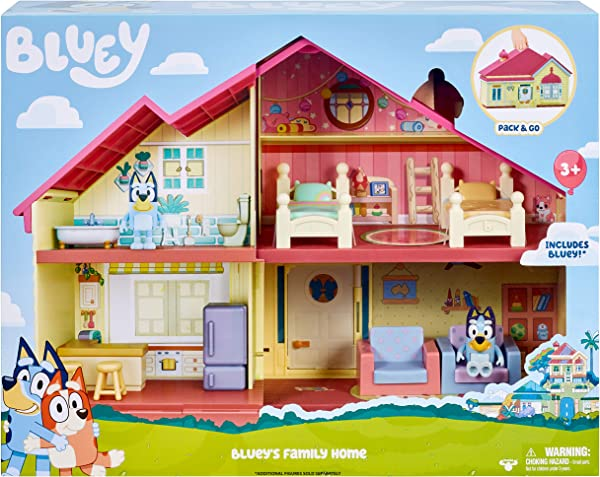 Bluey Family Home Playset toy for kids in package