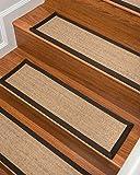 NaturalAreaRugs Montreal Sisal Carpet Stair Treads, Fudge Set of 4
