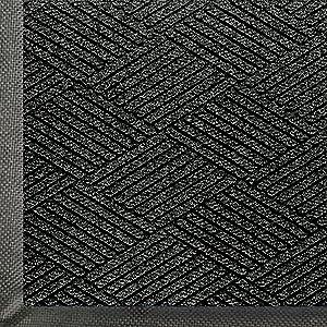 WaterHog Eco Commercial-Grade Entrance Mat, Indoor/Outdoor Black Smoke Floor Mat 4' Length x 3' Width, Black Smoke by M+A Matting