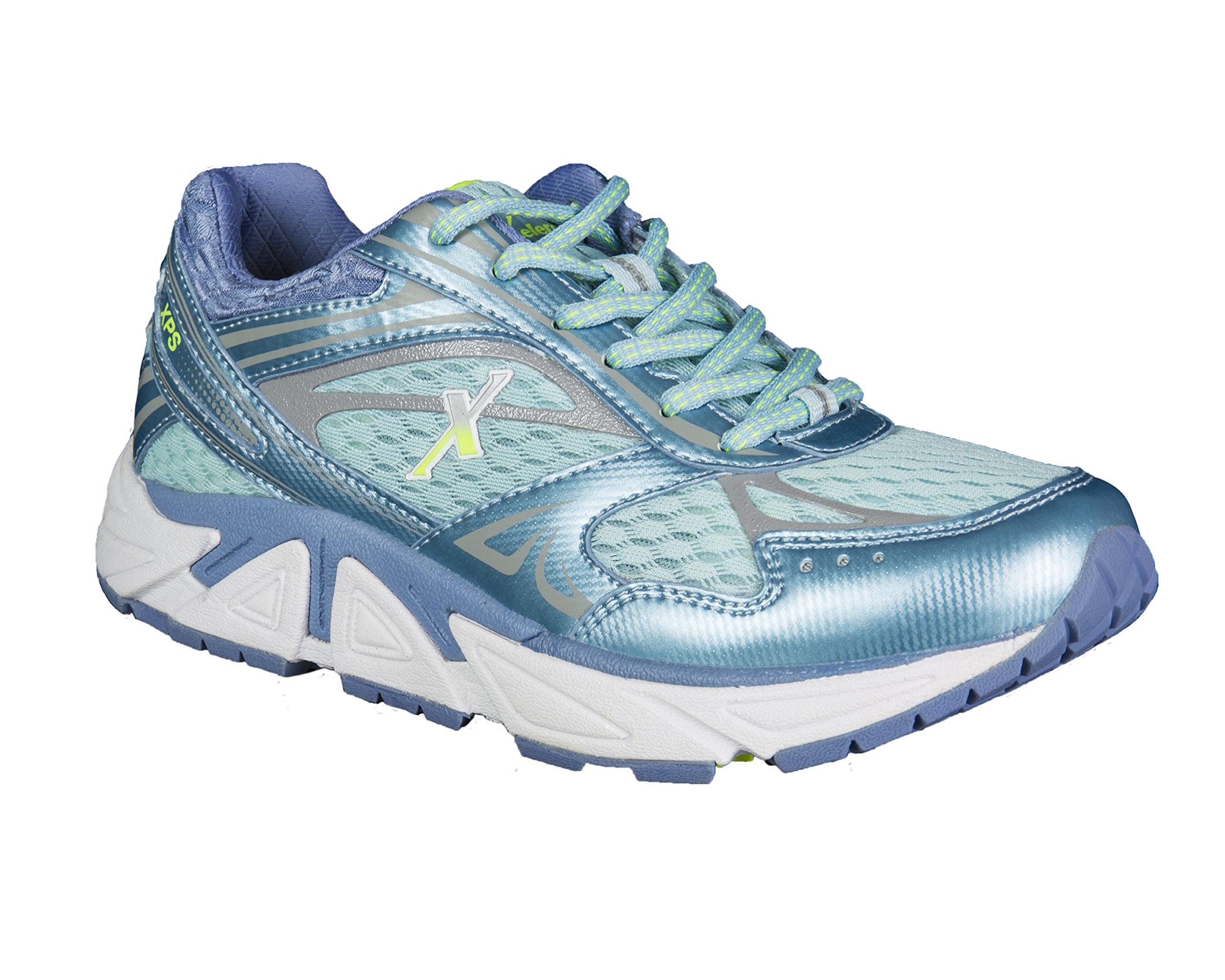 Xelero Genesis Women's Comfort Therapeutic Extra Depth Sneaker Shoe: Ocean/Lilac 12 Medium (B) Lace
