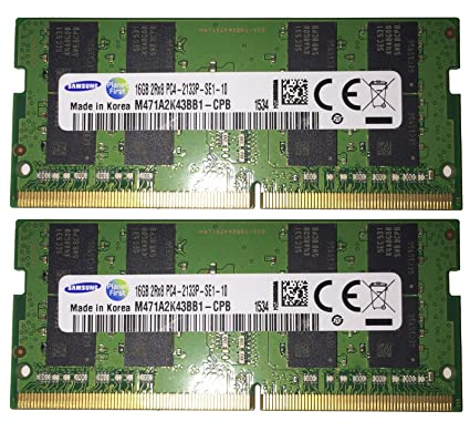 2x 16GB 32GB RAM DDR4 2133 Mhz Samsung SO DIMM PC4-17000 for Skylake Laptops