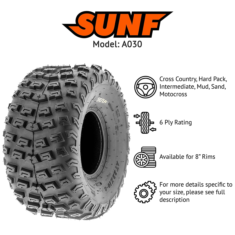 Amazon.com: SunF ATV UTV 22x10-8 All Terrain 6 PR Tubeless Replacement Knobby Tire A030, [Single]: Automotive