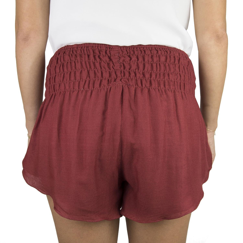 Mujer Talla Unica Natural Healing Co Pantalones Cortos De Playa Para Mujer Pantalones Cortos De Verano Casuales Con Cintura Elastica Ancha Ahumada En Tejido De Rayon Suave Ropa Lekabobgrill Com
