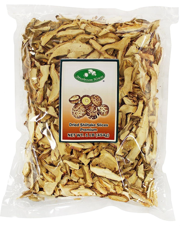 Mushroom House Dried Sliced Shiitake Mushrooms, Premium, 1 Pound Bag, 16 Ounce