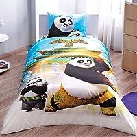 TAÇ 60137987 Lisanslı Kung Fu Panda Movie Nevresim Takımı, Tek Kişilik