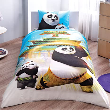 Copripiumino Kung Fu Panda.Buy Kung Fu Panda 3 Movie Po The Panda Licensed Bedding Set Duvet