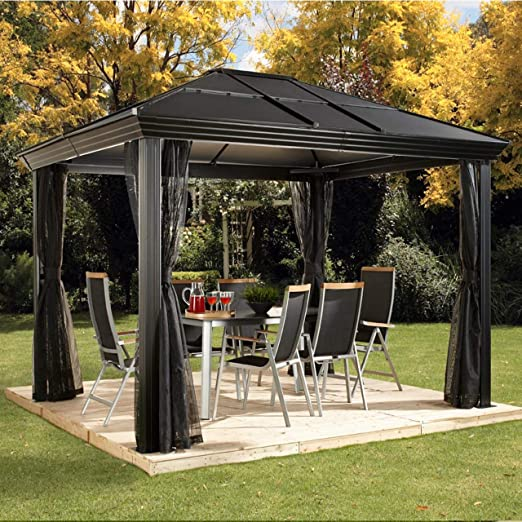Aluminio Carpa Pabellón Gazebo Cambridge 10 x 12//360 x 297 cm ...