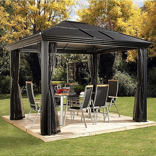 Sojag - Cenador de aluminio para jardín (10 x 12 cm, 362 x 297 x 273 cm): Amazon.es: Jardín