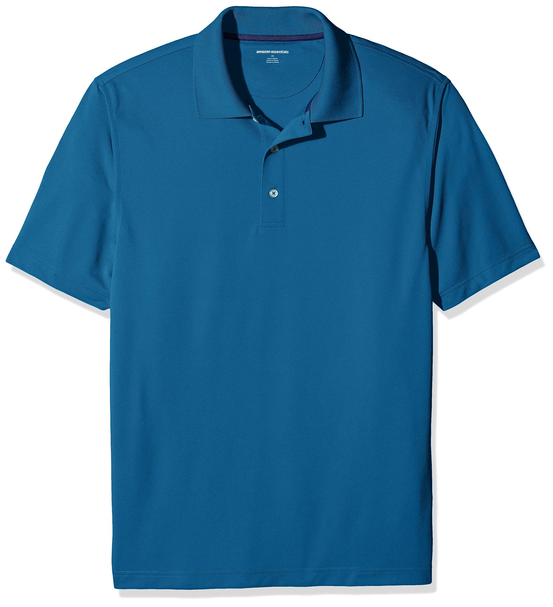 Amazon Essentials Men's Regular-Fit Quick-Dry Golf Polo Shirt, Deep Teal, Medium by Amazon Essentials