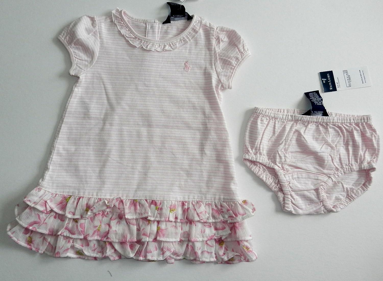 26096a11 Amazon.com : RALPH LAUREN GIRLS 2 pc SET 100% Cotton Sz 6 - 12 Mo ...