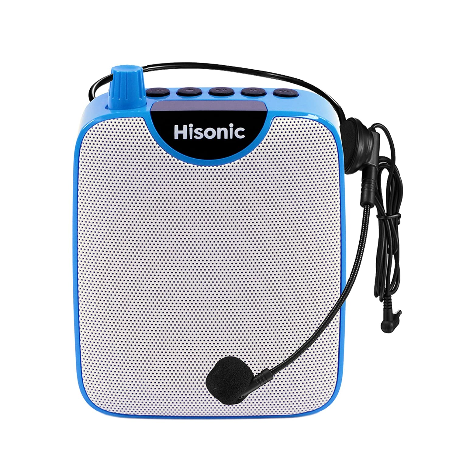 HISONIC HS122BT-HL Portable PA System with Dual Channel Wireless Microphones (One handheland and one Body Pack with headset and laverlier), Lithium Rechargeable Battery, Bluetooth Streaming Music From your Cell Phones,iPads, Android Pads and Computer, with