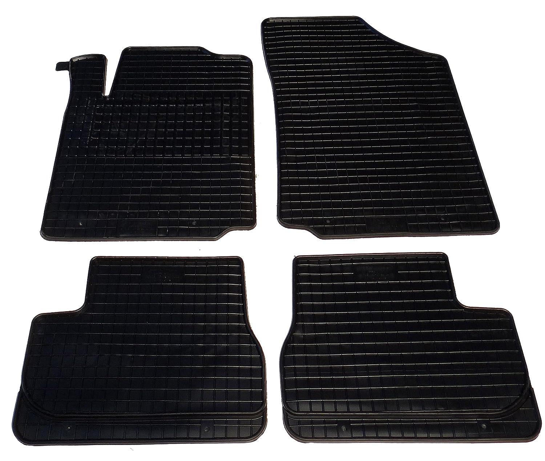 Auto Fuß matten Gummi Set 4-teilig passgenau, schwarz Fahrzeugmatten.de