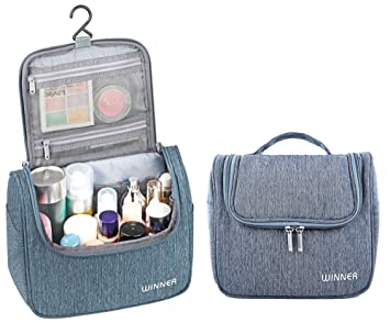 Amazon.com   Hanging Toiletry Bag - Mens Toiletry Travel Bag - Large  Capacity Travel Accessories for Women - Toiletry Kit, Makeup Bag, Cosmetic  Organizer   ... ae1278bf9c