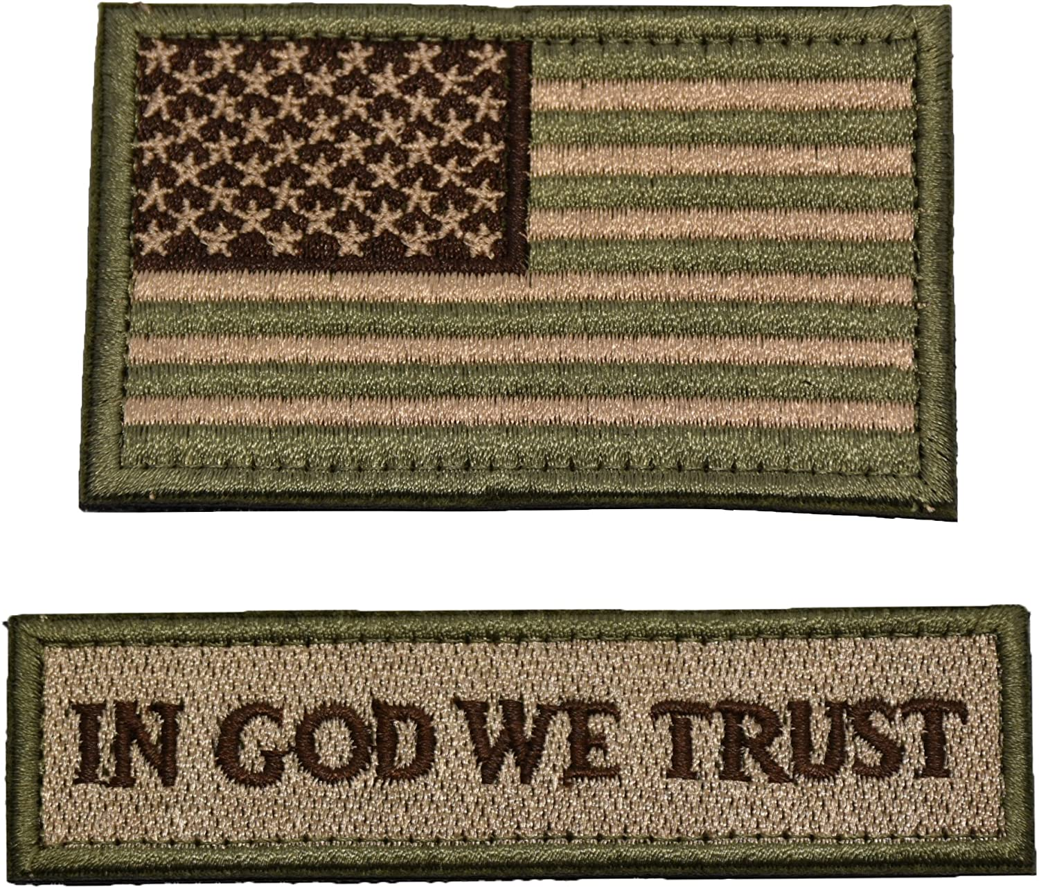 Tactical Morale Patch USA Flag Don't Tread On Me in God We Trust (Multitan(USA Flag+in GOD WE Trust)): Arts, Crafts & Sewing