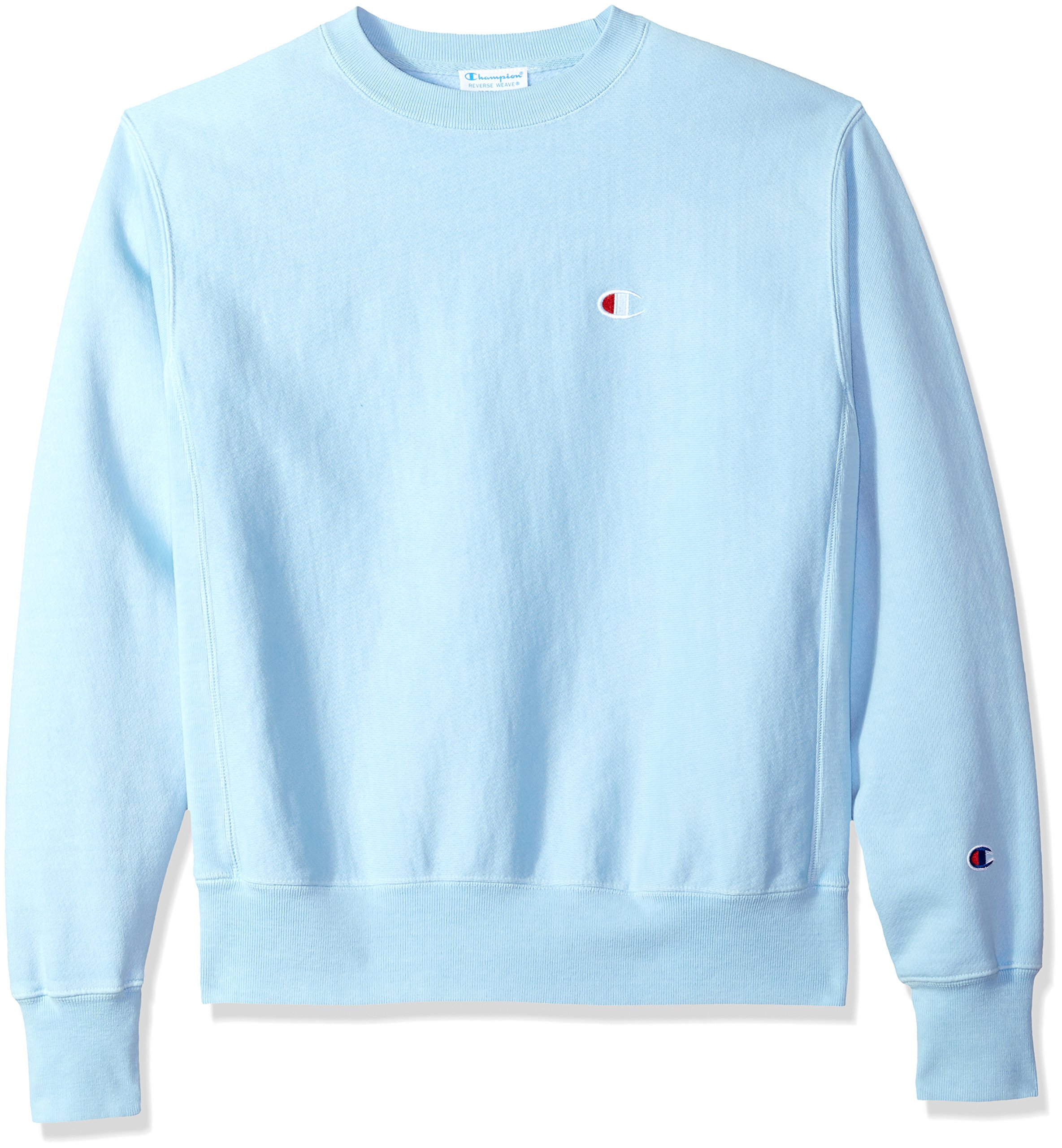 Champion LIFE Men's Reverse Weave Sweatshirt, Upstate Blue Pigment Dyed, XS