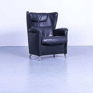 WK Wohnen 609 Piel Sillón Negro monoplaza silla piel # 5125 ...
