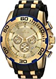 Invicta Men's 'Pro Diver' Quartz Stainless Steel and Silicone Casual Watch, Color:Black (Model: 22345)