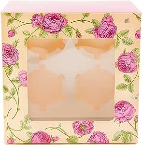 10 cajas para pastelitos con diseño de flores diseño, caja para ...