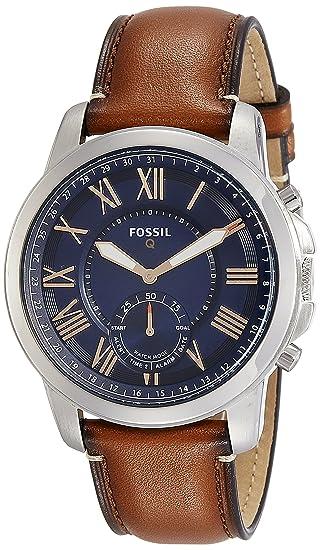 6b9fa8276aa2 Smartwatch Híbrido Fossil Q Grant FTW1122 Café  Amazon.com.mx  Relojes