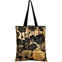 """EcoRight Reusable 100% Cotton (lightweight) EcoFriendly Tote Bag Printed""""Flowers"""""""