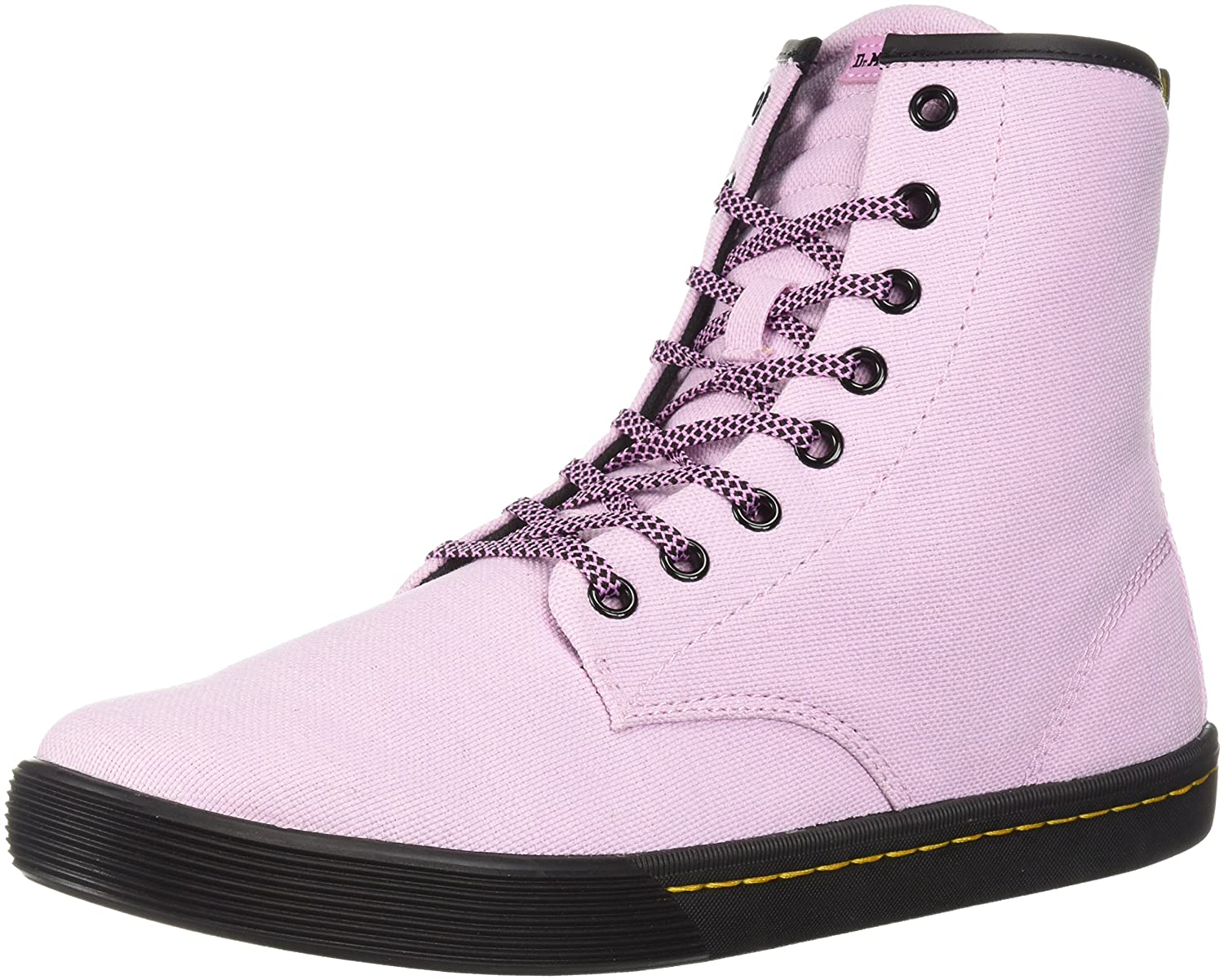 Dr. Martens Women's Sheridan Fashion Boot B071GNF1JX 6 Medium UK (8 US)|Mallow Pink Woven Textile