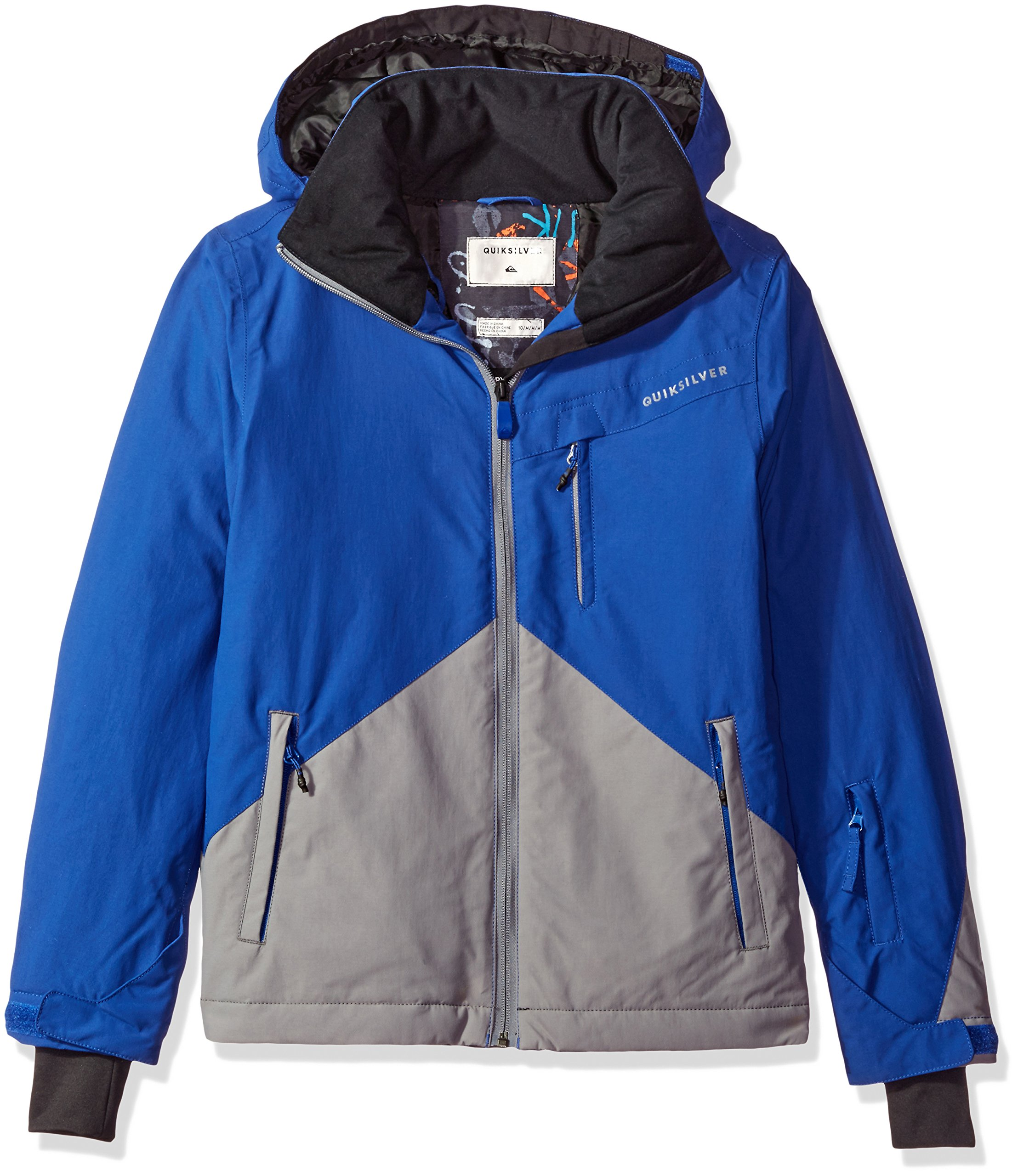 Quiksilver Big Boys' Mission Color Block Youth Snow Jacket, Sodalite Blue, 10/M by Quiksilver
