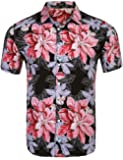 COOFANDY Men's Floral Button Down Short Sleeve Casual Print Hawaiian Aloha Shirts