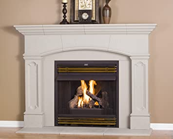 Amazon.com: Abington Thin Cast Stone Adjustable Fireplace Mantel Kit - Complete Kit includes Hearth and Adjustable Interior Filler Panels: Home & Kitchen