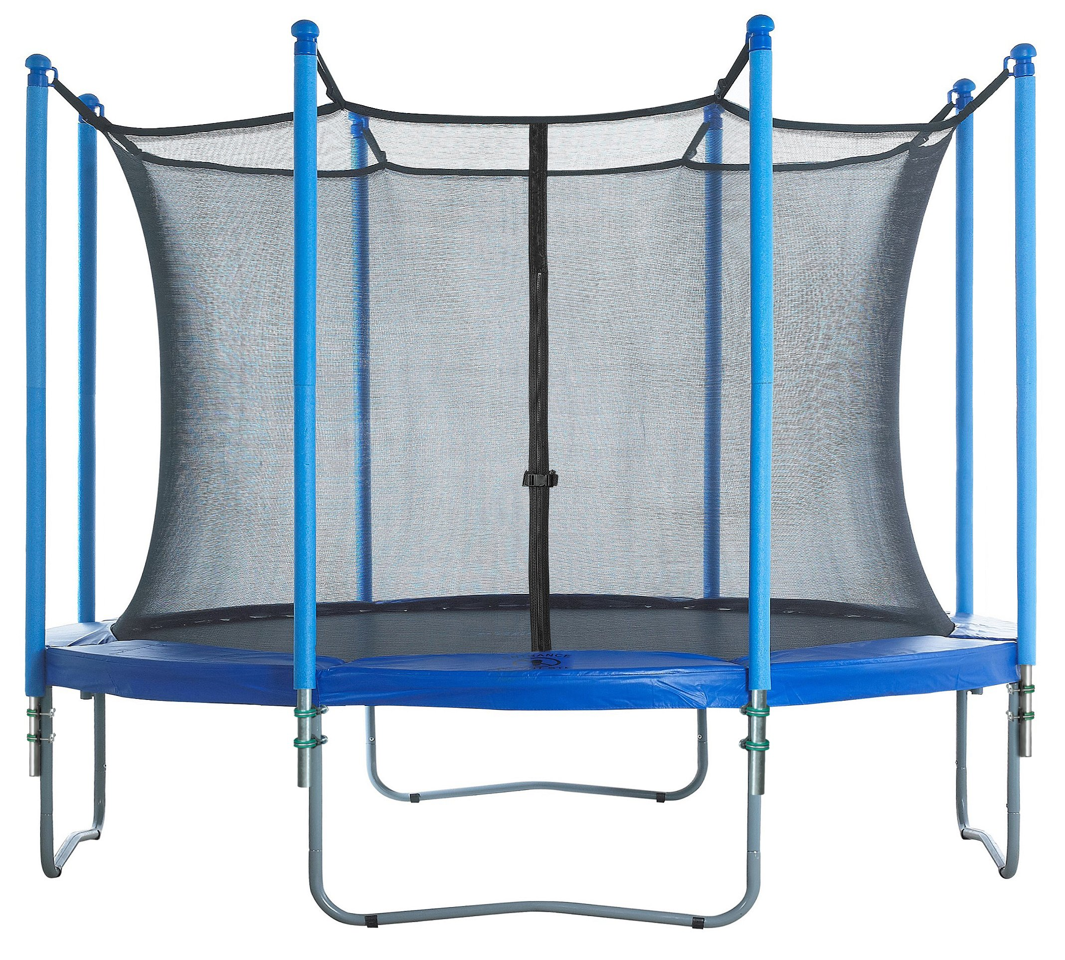 Trampoline Enclosure Set, to fit 14 FT. Round Frames, for 4 or 8 W-Shaped Legs -Set Includes: Net, Poles & Hardware Only by Upper Bounce (Image #6)
