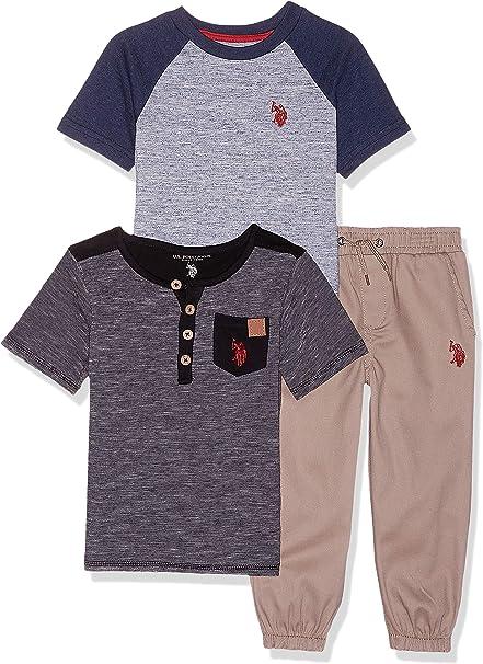 US Polo Assn Boys Fleece Vest 3pc Pant Set Size 2T 3T 4T 4 5 6